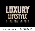 vector shiny sign luxury... | Shutterstock .eps vector #1562487490