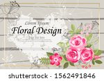 the rose elegant card. doodle.  ... | Shutterstock .eps vector #1562491846