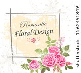the rose elegant card. doodle.  ... | Shutterstock .eps vector #1562491849