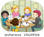 illustration of a group of kids ...   Shutterstock .eps vector #156249326