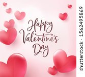 happy valentines day greeting... | Shutterstock .eps vector #1562495869