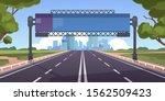cartoon highway. empty road...   Shutterstock .eps vector #1562509423