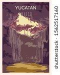 Yucatan Retro Poster. Yucatan...
