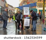 Small photo of York, UK - January 09 2016: People of York signing a petition in King's Square to stop the arming of states with repressive regimes and respect United Nations arms trade treaty