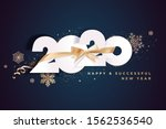 business happy new year 2020... | Shutterstock .eps vector #1562536540