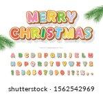christmas gingerbread cookie... | Shutterstock .eps vector #1562542969