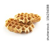 Belgian Sugar Waffles Isolated...