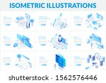 isometric 3d illustrations set. ...