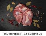 fresh raw mutton shoulder meat... | Shutterstock . vector #1562584606