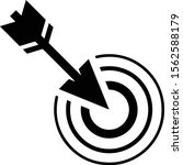 accuracy arrow and target icon | Shutterstock .eps vector #1562588179