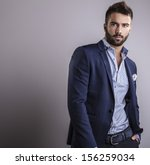 elegant young handsome man.... | Shutterstock . vector #156259034