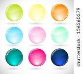 vector illustration of  glossy  ... | Shutterstock .eps vector #156260279