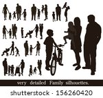 set of very detailed family... | Shutterstock .eps vector #156260420