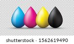 a group of cmyk ink splashes  | Shutterstock .eps vector #1562619490