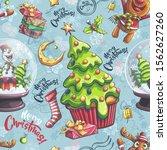 vector merry christmas...   Shutterstock .eps vector #1562627260