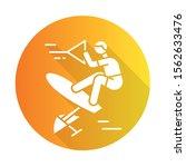 wakeboarding orange flat design ... | Shutterstock .eps vector #1562633476