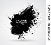 vector figured brush strokes... | Shutterstock .eps vector #156264248