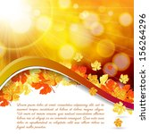 vector modern abstract orange... | Shutterstock .eps vector #156264296