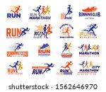 sport logo. healthy running...   Shutterstock .eps vector #1562646970