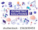 set of colorful isometric... | Shutterstock .eps vector #1562650453