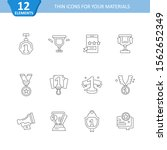set of vector linear icons....