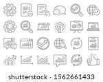 analytics  statistics line...   Shutterstock .eps vector #1562661433