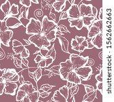 abstract seamless flower... | Shutterstock .eps vector #1562662663