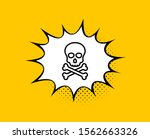 chemical hazard line icon.... | Shutterstock .eps vector #1562663326