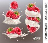 3d realistic vector set of... | Shutterstock .eps vector #1562667400