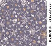 christmas seamless pattern of...   Shutterstock . vector #1562669803