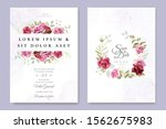 wedding invitation designs with ... | Shutterstock .eps vector #1562675983