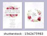 wedding invitation designs with ...   Shutterstock .eps vector #1562675983