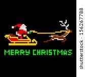 retro arcade video game style... | Shutterstock .eps vector #156267788