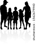 family of silhouettes.... | Shutterstock . vector #1562679940