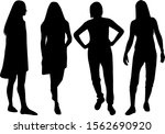 silhouette of a woman.... | Shutterstock . vector #1562690920