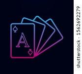 card deck nolan icon. simple...