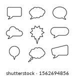 speech bubble set  for banner... | Shutterstock .eps vector #1562694856