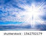 Glowing Cross . Christian Cross ...