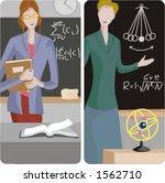 teacher illustrations series 1  ... | Shutterstock .eps vector #1562710