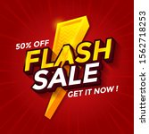 flash sale banner discount with ... | Shutterstock .eps vector #1562718253