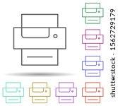 editorial  printer multi color...