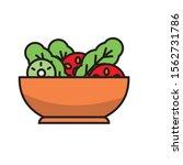 bowl of salad vector... | Shutterstock .eps vector #1562731786