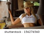sexy cowgirl  | Shutterstock . vector #156276560