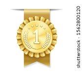 no 1 badge. vector label for...   Shutterstock .eps vector #1562800120