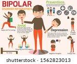 bipolar disorder symptoms sick... | Shutterstock .eps vector #1562823013