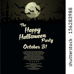 halloween party  background | Shutterstock .eps vector #156283988