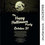 halloween party  background | Shutterstock .eps vector #156283988