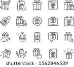 set of gift icons  gift box ... | Shutterstock .eps vector #1562846539