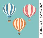 set of striped hot air balloons ...   Shutterstock .eps vector #1562863879