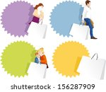 promo badges set   fashionable... | Shutterstock .eps vector #156287909
